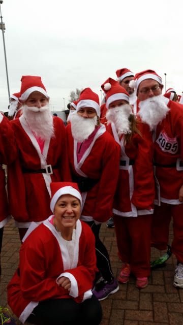 Whitworth High School Santa Run for Rossendale Hospice