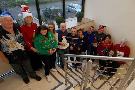 Hanson team in Christmas jumpers